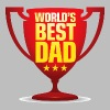 Best Father of the World - Slim Fit T-skjorte for menn