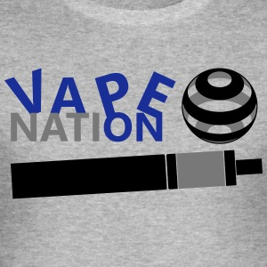 Vape On - vape Nation - Slim Fit T-shirt herr