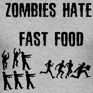 Zombies hate Fast Food - Männer Slim Fit T-Shirt