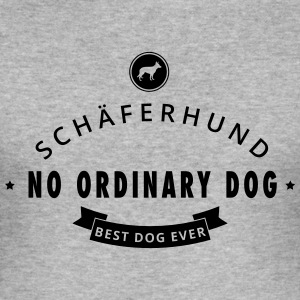 Tysk Shepherd - No Ordinary Dog - Slim Fit T-skjorte for menn