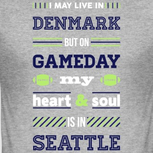 I may live in Denmark... (Seattle edition) - Herre Slim Fit T-Shirt