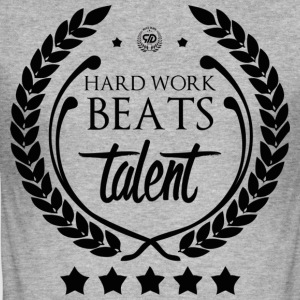 HARTE ARBEIT BEATS TALENT - Männer Slim Fit T-Shirt