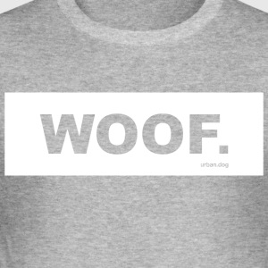 WOOF urban.dog White - Men's Slim Fit T-Shirt