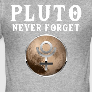 Funny Pluto Never Forget T-Shirt - Männer Slim Fit T-Shirt
