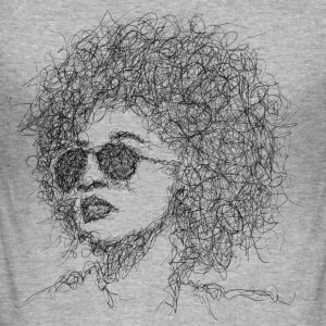 Afro Scribble - Herre Slim Fit T-Shirt