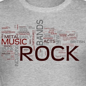 rock words - Men's Slim Fit T-Shirt