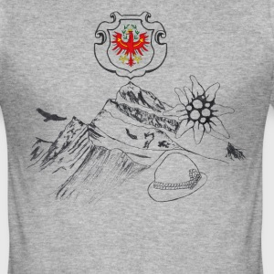 tyrolean hem - Slim Fit T-shirt herr