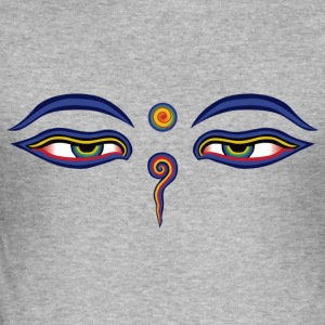 Buddha Eyes - Men's Slim Fit T-Shirt