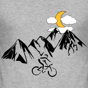 Mountain bikers with mountains