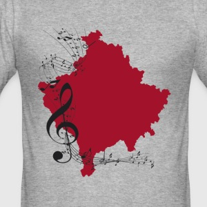 kosovo musikk - Slim Fit T-skjorte for menn