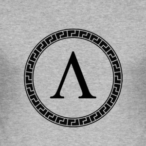 Spartan Lambda Symbol - Slim Fit T-skjorte for menn