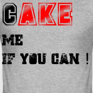 Cake_me_if_you_can3 - Slim Fit T-skjorte for menn