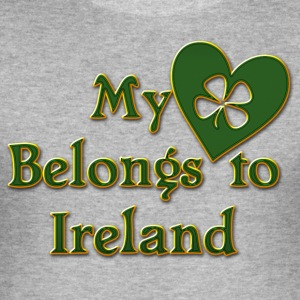 Irish My Heart Belongs To Ireland - Men's Slim Fit T-Shirt