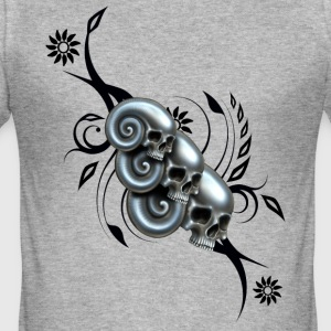 Skull and Swirl - Männer Slim Fit T-Shirt