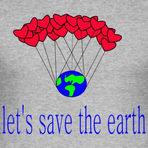 laissez-s_save_the_earth - Tee shirt près du corps Homme