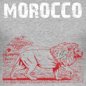 Nation-Design Morocco Lion - Männer Slim Fit T-Shirt