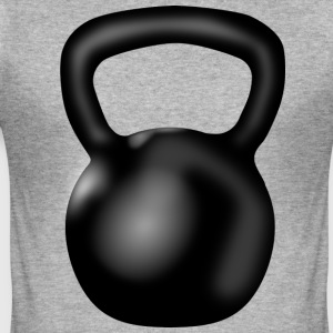 Kettlebell - Männer Slim Fit T-Shirt