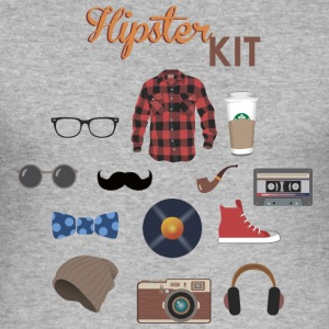 hipster kit - Slim Fit T-skjorte for menn