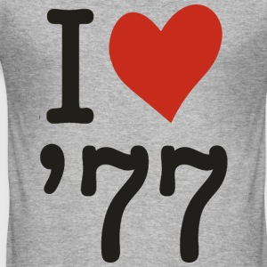 i love 77 - Männer Slim Fit T-Shirt