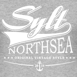 Sylt - Vintage stil - Slim Fit T-skjorte for menn