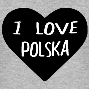 I LOVE POLSKA - Men's Slim Fit T-Shirt