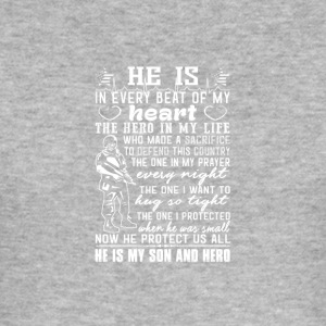 He is my son and hero - Men's Slim Fit T-Shirt