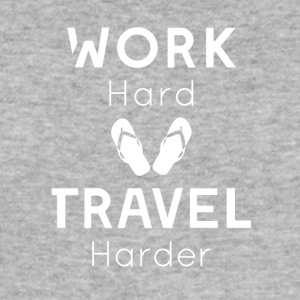 Work hard, travel harder - Men's Slim Fit T-Shirt