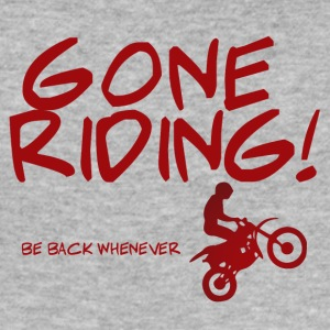 Biker / motorcycle: Gone Riding! Be Back Whenever. - Men's Slim Fit T-Shirt