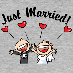 Just Married In Love - Slim Fit T-skjorte for menn