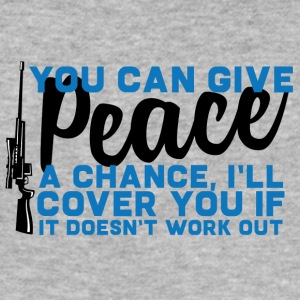 Military / Soldiers: You Can Give Peace A Chance, - Men's Slim Fit T-Shirt