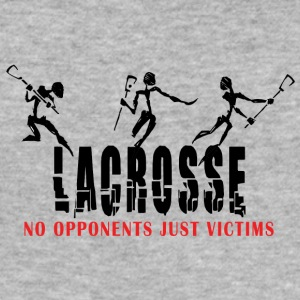 Lacrosse No Opponents Just Victims - Men's Slim Fit T-Shirt
