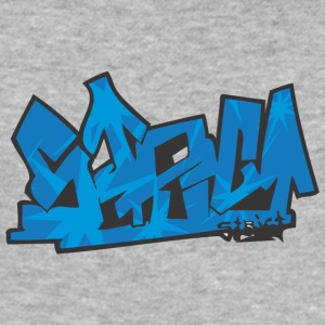 scene graffiti - Slim Fit T-skjorte for menn