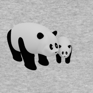 Mother Panda with Baby Panda - Men's Slim Fit T-Shirt