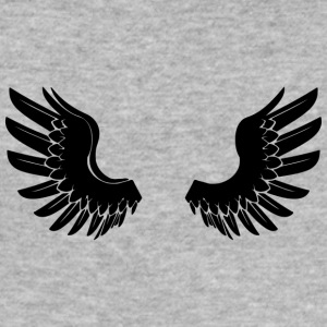 Sorte AngelWings - Herre Slim Fit T-Shirt