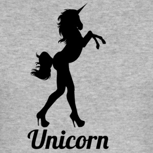 blak unicorn - Slim Fit T-shirt herr