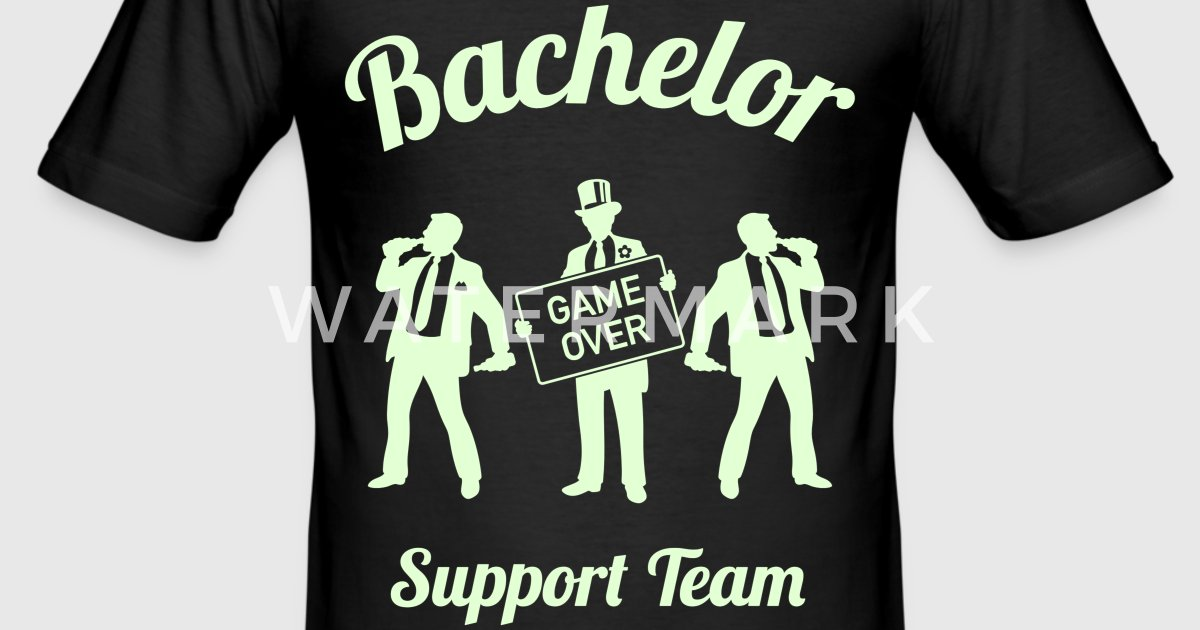 Bachelor game over support team stag party 1c by for I support two teams t shirt
