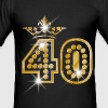 40 - Birthday - Queen - Gold - Burlesque - Men's Slim Fit T-Shirt