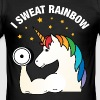 I Sweat Rainbow | Cool Gym Unicorn Design - Men's Slim Fit T-Shirt