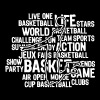 basketball texte mots - slim fit T-shirt