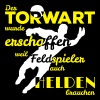 Torwart Held Quadrat 2f - Männer Slim Fit T-Shirt