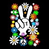 Flower Power & Peace (stor) - Slim Fit T-shirt herr