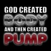 God Created Body Pump - Men's Slim Fit T-Shirt
