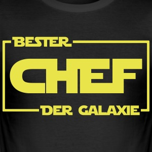 Bester Chef der Galaxie - Männer Slim Fit T-Shirt