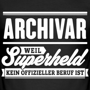 Superheld Archivar - Männer Slim Fit T-Shirt