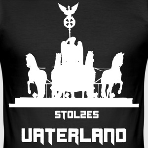 STOLZES VATERLAND - Männer Slim Fit T-Shirt