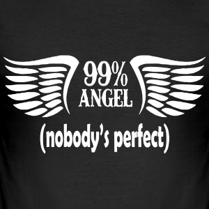 99% ängel - Slim Fit T-shirt herr