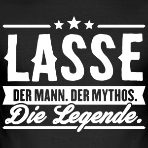 Man Myth Legend Lasse - Slim Fit T-shirt herr