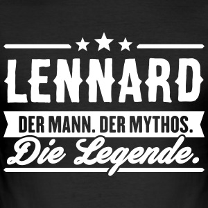 Man Myth Legend Lennard - Men's Slim Fit T-Shirt