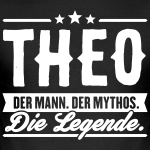 Man Myth Legend Theo - Slim Fit T-skjorte for menn