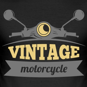 Vintage Motorcycle - Herre Slim Fit T-Shirt